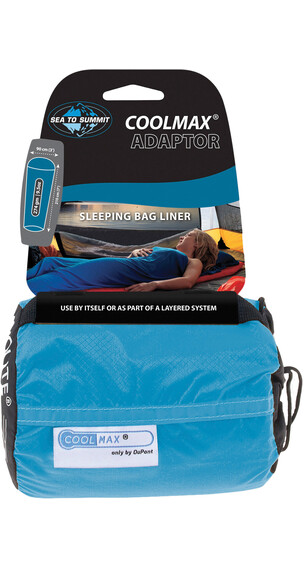 Sea to Summit - Drap sac de couchage coolmax - bleu